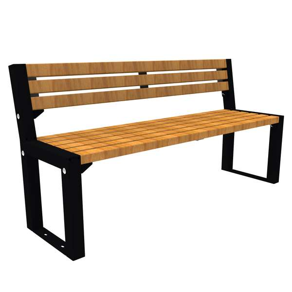 Street Furniture | Seating and Benches | FalcoAcero Seat (Hardwood) | image #2 |