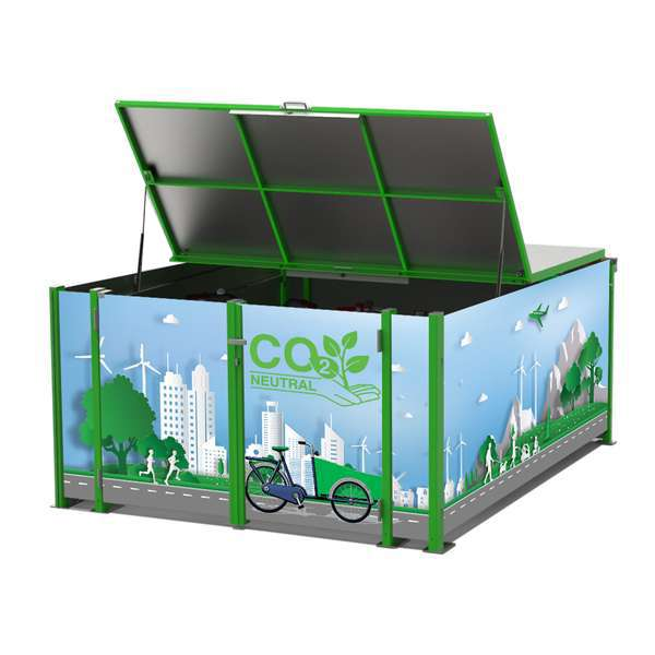 Cycle Parking | Bike Hangars & Cycle Lockers | FalcoCargobox Secure Cargo Bike Storage | image #1 |  FalcoCargobox Cargo Bike Locker