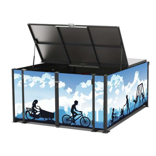 Cycle Parking | Bike Hangars & Cycle Lockers | FalcoCargobox Secure Cargo Bike Storage | image #2 |  FalcoCargobox Cargo Bike Locker