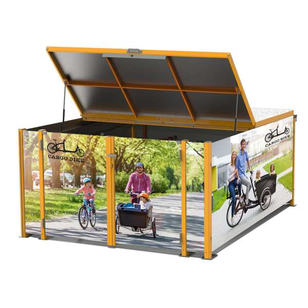 Cycle Parking | Bike Hangars & Cycle Lockers | FalcoCargobox Secure Cargo Bike Storage | image #3 |  cargo bike locker