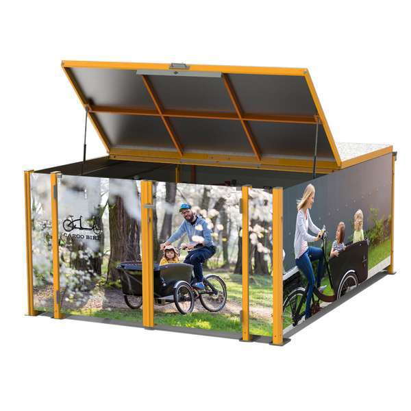Cycle Parking | Bike Hangars & Cycle Lockers | FalcoCargobox Secure Cargo Bike Storage | image #4 |  FalcoCargobox Cargo Bike Locker
