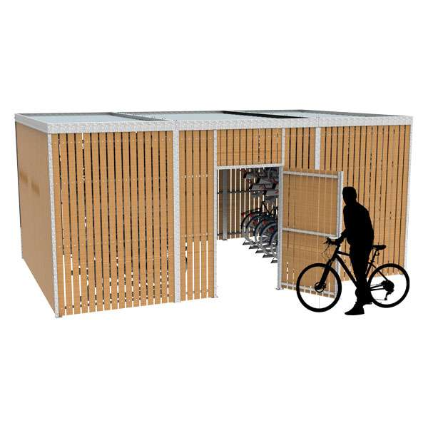 Shelters, Canopies, Walkways and Bin Stores | Shelters for Two-Tier Cycle Racks | FalcoLok-600 for Two-Tier Cycle Racks | image #1 |