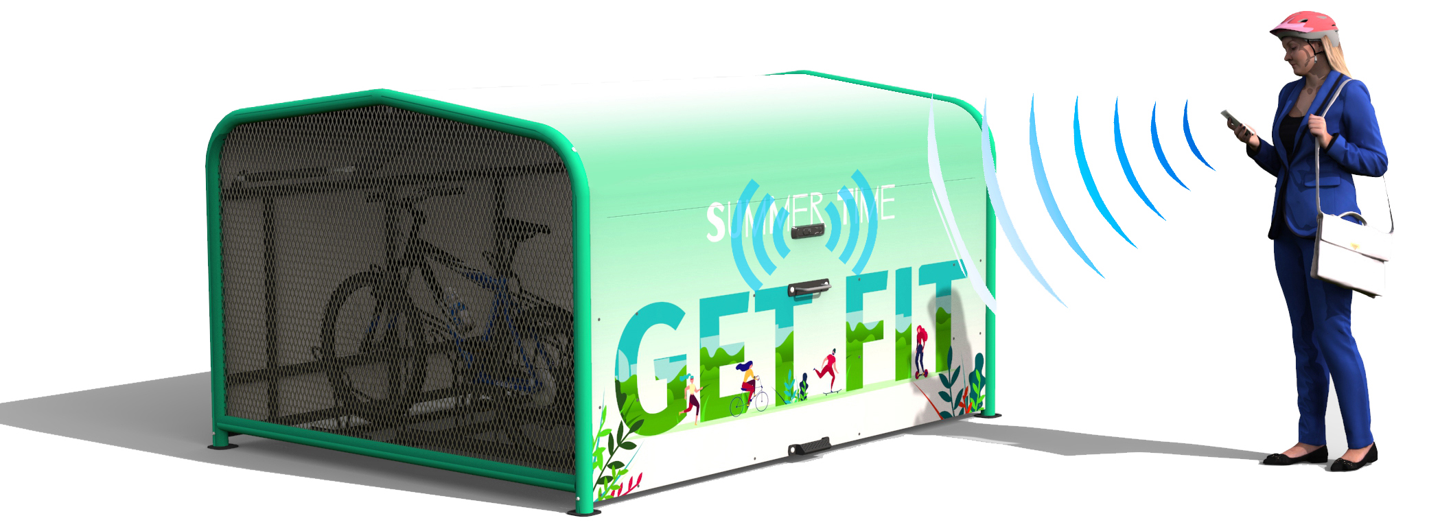 FalcoPod Bike Hangar with Mobile App Access