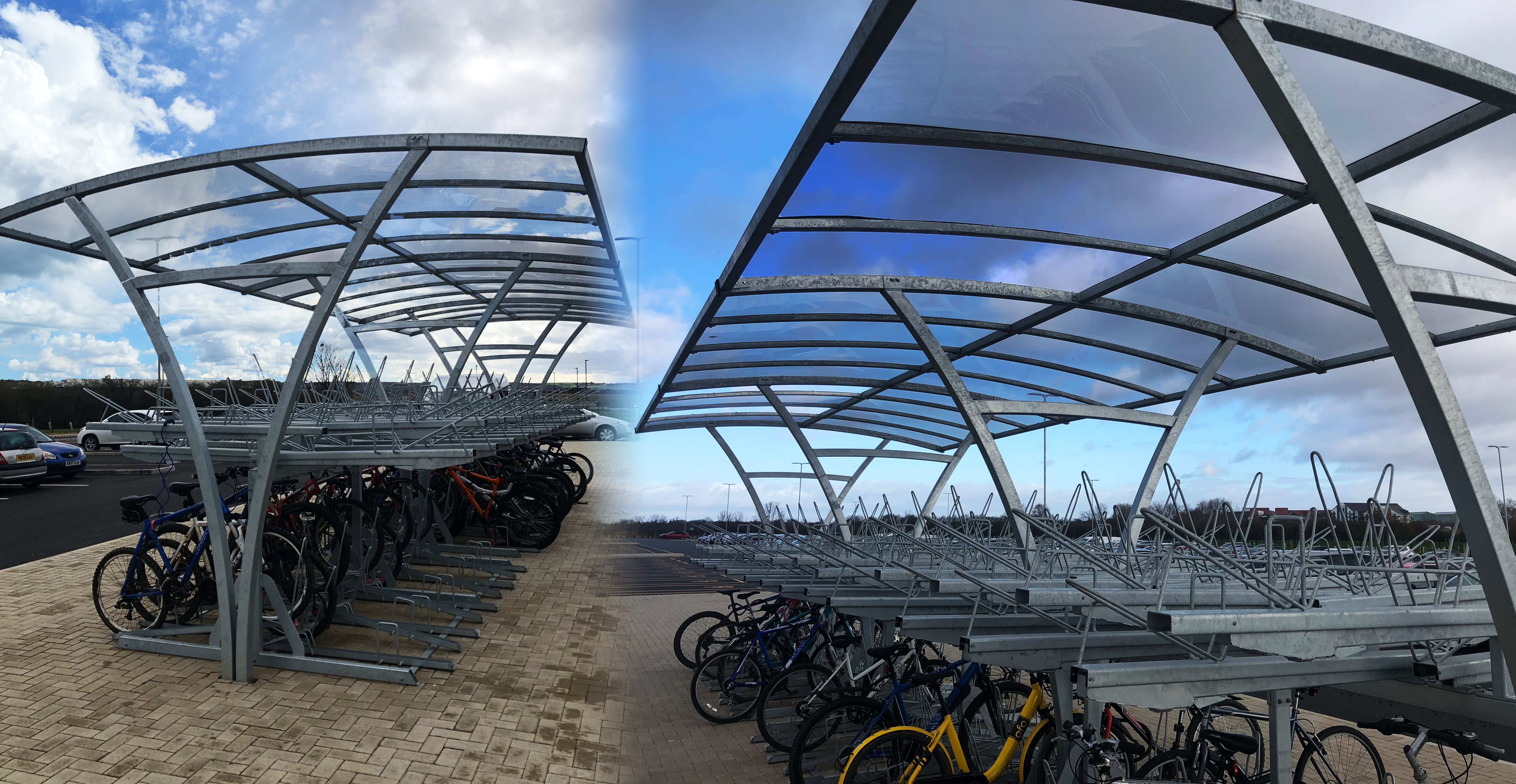 Cycle shelters for B&M Southern Distribution Centre