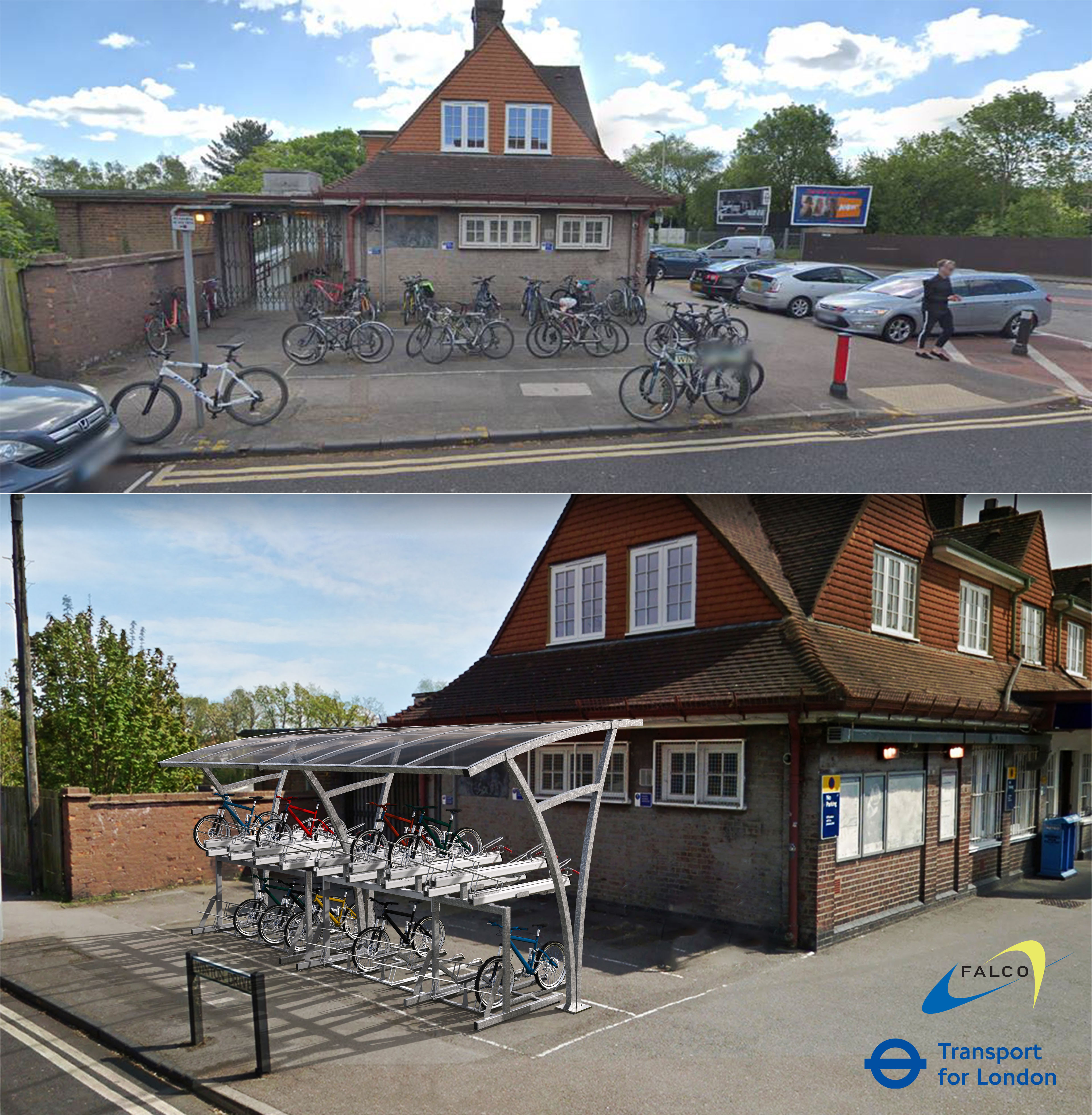 Tfl Croxley Station Cycle Shelter Rendering
