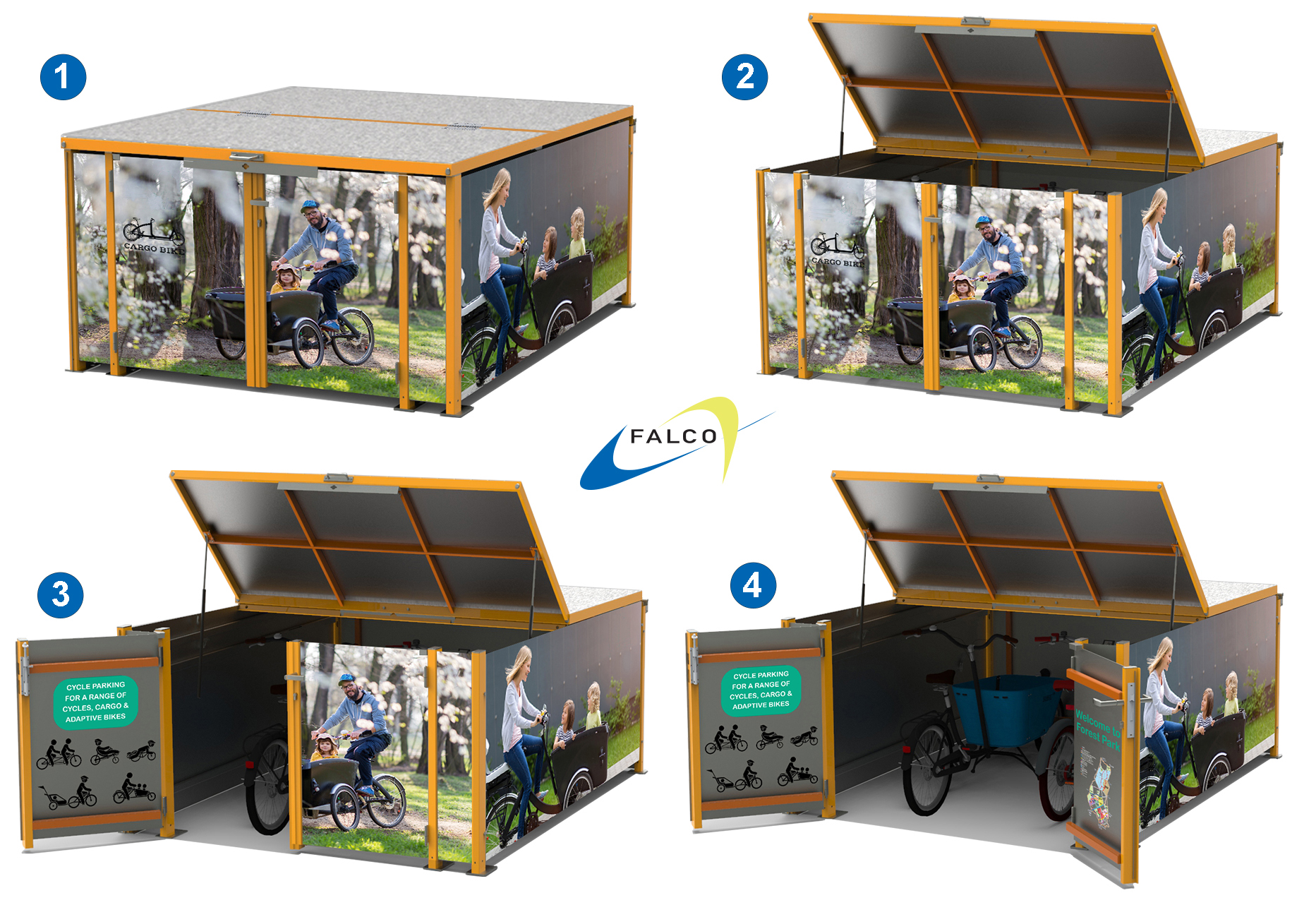 FalcoCargoBox Cargo Bike Locker