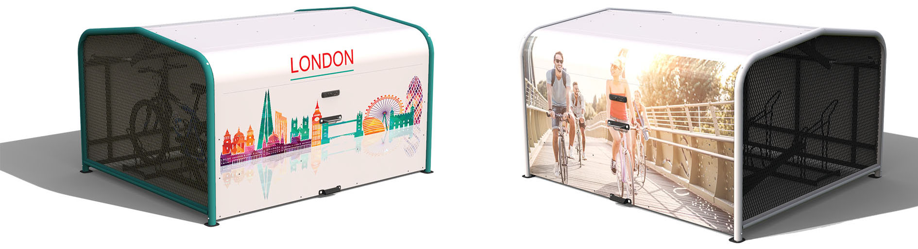 FalcoPod Bike Hangar Design Renderings 2