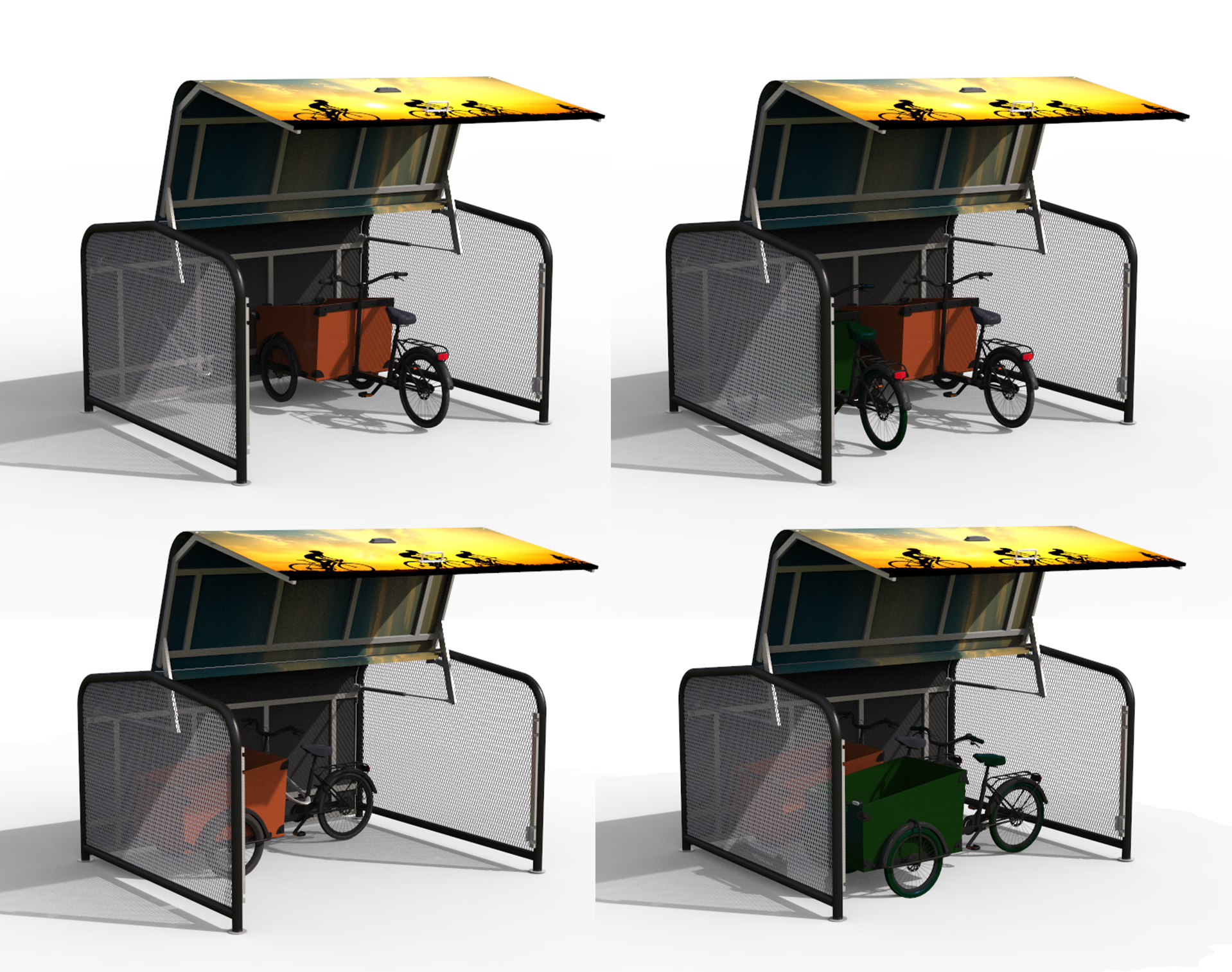 FalcoPod Bike Hangar for Cargo Bikes