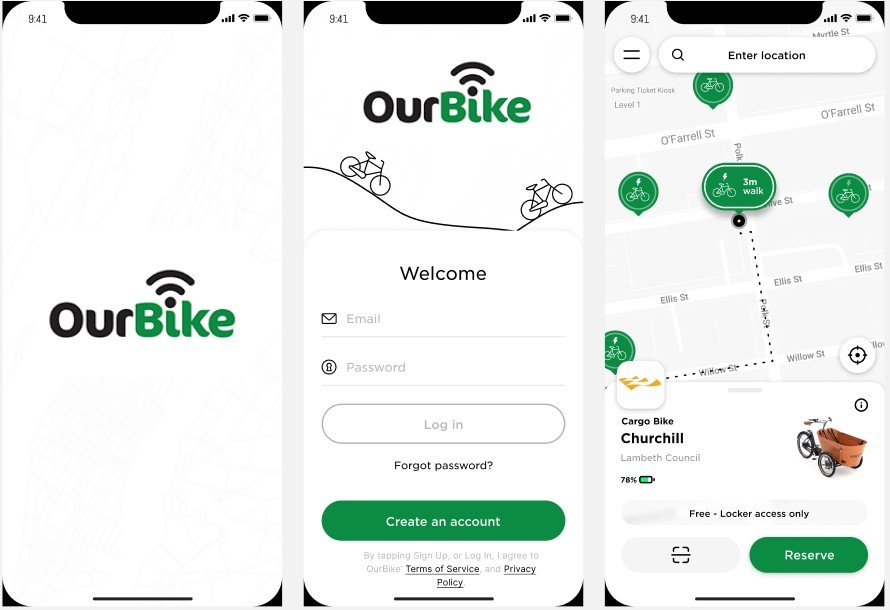 Our Bike App Graphic