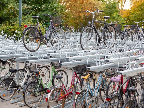 Cycle Parking at Lund Central Station, Sweden